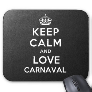 Alfombrilla diseño Keep calm and love Carnaval