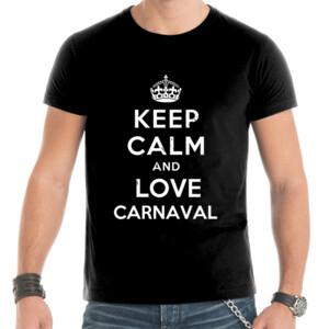 Camiseta para hombre keep calm and love carnaval