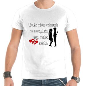 Camiseta de manga corta diseño Hombre cobarde - hombre