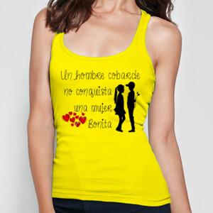 Camiseta de tirante con diseño Hombre cobarde para mujer