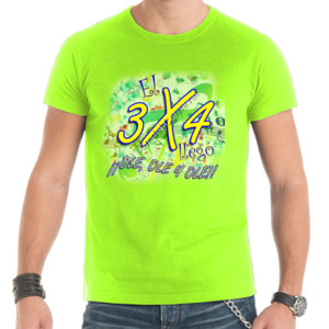 Camiseta de manga corta con diseño El 3x4 llego