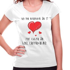 Camiseta de manga corta , diseño Yo me enamore de ti