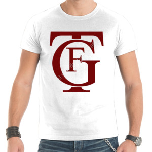 Camiseta con logo del gran teatro Falla letras burdeos
