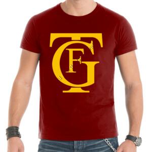 Camiseta manga corta con logo del gran teatro Falla color amarillo