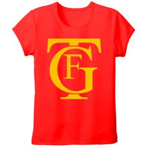 Camiseta manga corta talla grande diseño logo teatro Falla amarillo