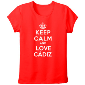 Camiseta diseño Keep calm and love Cádiz - tallas grandes