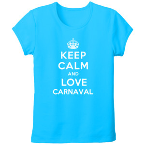 Camiseta diseño Keep calm and love Carnaval - tallas grandes