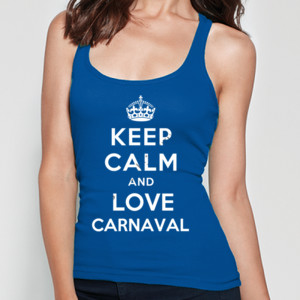 Camiseta de tirantes diseño Keep calm and love Carnaval para mujer